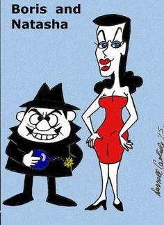 cartoons poster Boris and Natasha by on DeviantArt 70s Cartoons, Old School Cartoons, Looney Tunes Cartoons, Famous Cartoons, Animated Cartoons, Popular Cartoons, Classic Cartoon Characters, Favorite Cartoon Character, Classic Cartoons