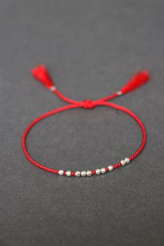 Womens Mens Fashion Red Silky Wool Rope Zen Styles Kabbalah Red String Braided Friendship BFF Band Bracelet Set of Two