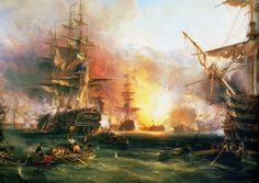 The Bombardment of Algiers, 27 August 1816 by the combined British and Dutch Fleet by George Chambers, Sen x-post r/WarshipPorn [[MORE]]lilyputin:Another Painting on the Same Subject  Wiki on the painting   English: In the foreground of the painting is a barge with a howitzer in the bows and a lieutenant standing at her tiller. To the left of her are two boats, one sunk and the other with sailors rescuing the crew. In the right foreground is a fallen spar and another barge with a carronade…