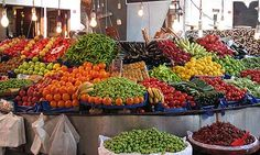 Besiktas:A district of Istanbul that hosts a weekly Saturday bazaar - extravaganza of fresh foods – pyramids of rosy tomatoes and mountains of cucumbers