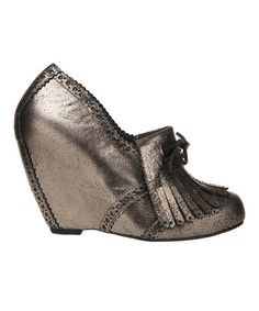 Take a look at this Bronze Metallic I'm From the Future Wedge by Irregular Choice on #zulily today!