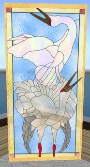 crane stained glass