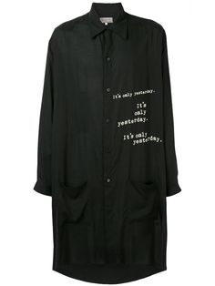 Yohji Yamamoto Printed Oversized Shirt In Black Yohji Yamamoto, Oversized Shirt, Chef Jackets, Women Wear, Style Inspiration, Long Sleeve, Sleeves, Prints, Mens Tops