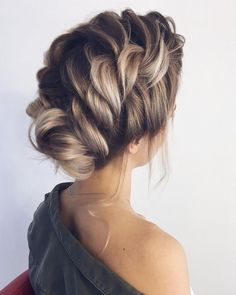 Braided updo hairstyles,braid wedding hairstyles ,updo, loose braid updo wedding hairstyle #weddinghair #wedding #hairstyles #updoideas #weddinghairstyles