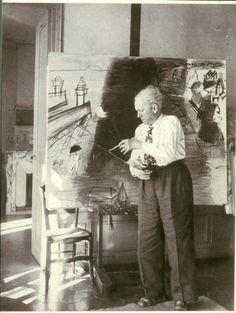 Raoul #dufy pintando uno de sus Cargueros negros.