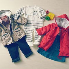 Keep little ones warm in snuggly onesies and jackets.