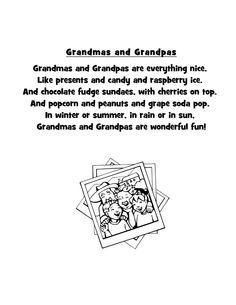 short grandparent poems | ... Teachers: Sharing Across Borders: Grandmas and Grandpas Poem and Craft