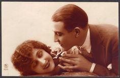 Charming 1920s Romance Fantasy Postcard