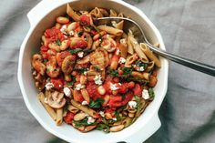Ate this with chickpea penne instead of the red lentil suggested in recipe. Delicious recipe! We went with 1 large and 2 medium appetite and finished the whole pot. We usually have left overs but not with this!