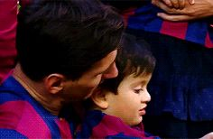 Thiago Messi and confetti...a love story :) Seriously though, his smile is so cute