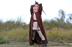 Jedi outfit for a kid.