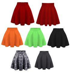 Womens Textured Flared Skater Skirt #HyBridCompany #SkaterSkirt