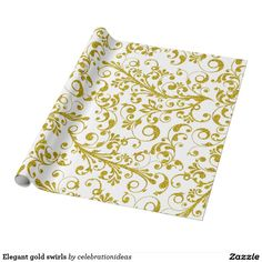Sold #Elegant #gold #swirls #wrappingpaper Available in different products. Check more at www.zazzle.com/celebrationideas