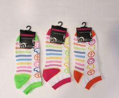 Ladies Everbright Socks. Sz 9-11 Multi Color. Low Cut.  3 Pair #Everbright #LowCut