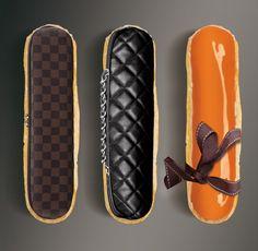 Eclairs-chic version Haute pâtisserie par Christophe Adaminspirés par Louis Vuitton, Chanel et Hermès.