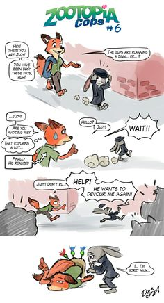 Zootopia cops. Page 6