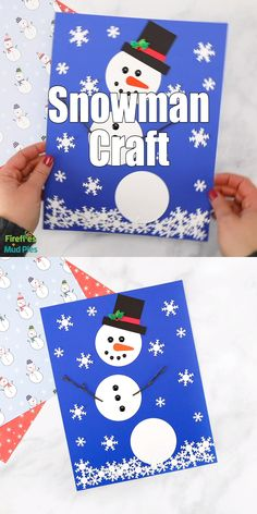 Kids of all ages will enjoy using our printable snowman template, twigs, and a snowflake paper punch to create a simple and fun paper snowman craft. It's perfect for school or home! Preschool Christmas Crafts, Christmas Card Crafts, Daycare Crafts, Winter Crafts For Kids, Classroom Crafts, Toddler Crafts, Holiday Crafts, Snowman Craft Preschool, Snowman Crafts For Preschoolers