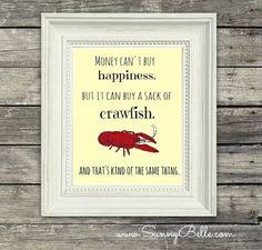 crawfish print; mudbugs; crawfish boil; louisiana on Etsy, $12.00