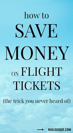 Life hack: How to get cheap flight tickets.