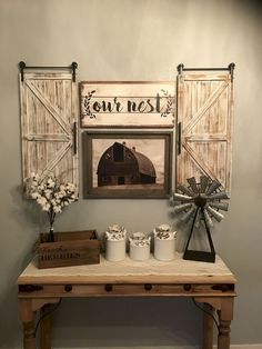 Awesome Rustic Farmhouse Style Living Room Design Ideas - Home Decor Ideas Diy Home Decor Rustic, Country Farmhouse Decor, Farmhouse Kitchen Decor, Farmhouse Design, Farmhouse Ideas, Rustic Entryway, Modern Farmhouse, Country Kitchen, Rustic Homes
