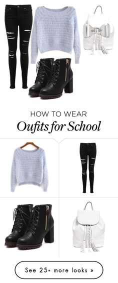 """back to school"" by ily-danyel on Polyvore featuring Miss Selfridge, Rebecca Minkoff and Marc by Marc Jacobs"