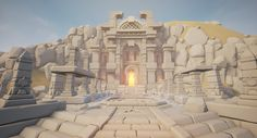 ArtStation - Desert Temple - WIP01, Tobias Koepp