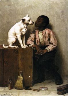 Color no Objection, Oil On Canvas by John George Brown (1831-1913, England)