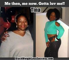 Tina lost 50 pounds | Black Weight Loss Success