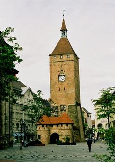 The city of Nürnberg am weissen Turm