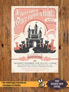 Once Upon A Time Baby Shower Invitiaton   Princess Baby Shower Invitation    Also A Great