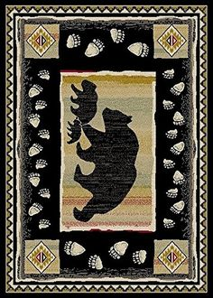 Take the Lead Area Rug - Wildlife Cabin Black Bear Lodge ... https://www.amazon.com/dp/B01HHHDA2I/ref=cm_sw_r_pi_dp_6-hBxbQ12T71T