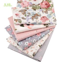 Chainho,Print Twill Cotton Fabric,Warm Pink Floral For DIY Quilting Sewing/Tissue Of Baby&Child/Sheet,Pillow Material,Half Meter(China) Suede Fabric, Cotton Fabric, Sewing Tutorials, Sewing Crafts, Shabby Chic Fabric, Patchwork Fabric, Baby Kind, Couture, Baby Sewing