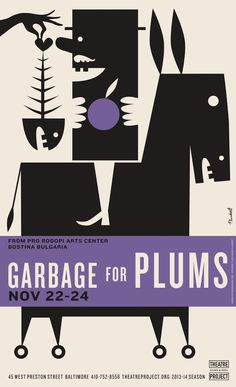 Garbage for Plums, November 22-24, 2013/14 season, poster by David Plunkert