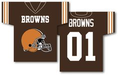 """NFL Cleveland Browns Jersey Banner 34"""""""" x 30"""""""" - 2-Sided"""