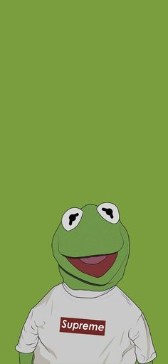 Kemite wet card of green of frog Supreme cartoon Wallpapers for iPhone X, iPhone XS and iPhone XS Max - Free Wallpaper | Download Free Wallpapers