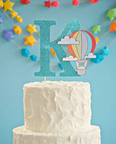 hot air balloon cake topper2 - Mary Had a Little Party