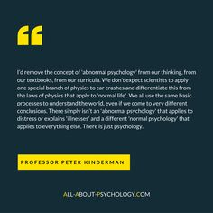Visit: http://www.all-about-psychology.com/abnormal-psychology.html to learn all about 'abnormal psychology,' including an important discussion on whether the term abnormal psychology is actually fit for purpose.