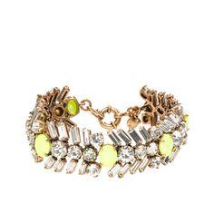 J.Crew Crystal and Neon Chevron Bracelet, $78