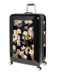 25bcd1b45 TED BAKER LARGE PORCELAIN ROSE 31-INCH HARD SHELL SPINNER SUITCASE -  BURGUNDY.  tedbaker  bags  travel bags  suitcase