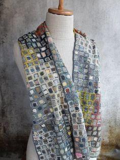 """""""Concrete"""" Scarf - Sophie Digard crochet http://bellanblue.com"""