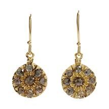 Fabrizio Riva Brown Crown Cut Diamond Earrings