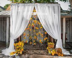 Eclectic southern inspired altar decor (Flowers by Lee Forrest Design, photo by: Erika Rech Photography)