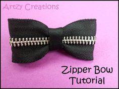 Artzy Creations: Zipper Bow Tutorial