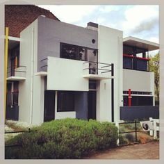 The Rietveld Schröder House in Utrecht is one of the best known examples of De Stijl-architecture