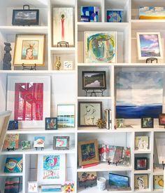 @charlestonartistcollective goodness in their gallery and studio. Installing beauties at the @csoldesignerhouse as we speak of @waywayallen @annespaintings and other Charleston greats. #design #interiordesign