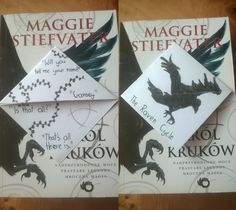 The Raven Boys bookmark.