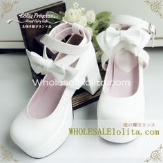 Alice Series Pure White Bow Chunky Heel Cross Ankle Straps Princess Lolita Shoes | Know more >> http://www.wholesalelolita.com/alice-series-pure-white-bow-chunky-heel-cross-ankle-straps-princess-lolita-shoes-p-14333.html