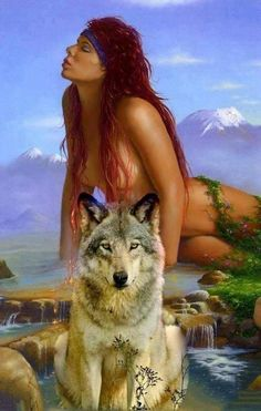 🦊🐺🐾🐾🐾 Iracy Moura 🦊🐾🐺 Native American Wolf, Native American Pictures, Native American Beauty, American Indian Art, Wolf Images, Wolf Pictures, Wolves And Women, Female Demons, Wolf Love