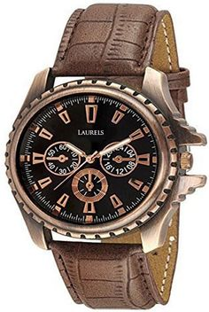 Laurels Lo-Cp-101 Copper Analog Watch  - For Men on November 16 2016. Check details and Buy Online, through PaisaOne.