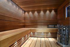 Saunas, Sauna Lights, Japanese Bathroom, Sauna Design, Sauna Room, Spa Rooms, Bed And Breakfast, Home Renovation, Future House